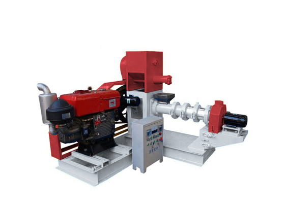 Diesel engine fish feed extruder