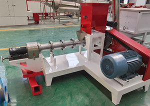 Animal Floating fish feed pellet making extruder machine suppliers prices