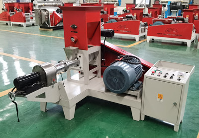 Factory supply High output floating fish feed pallet extruder machine