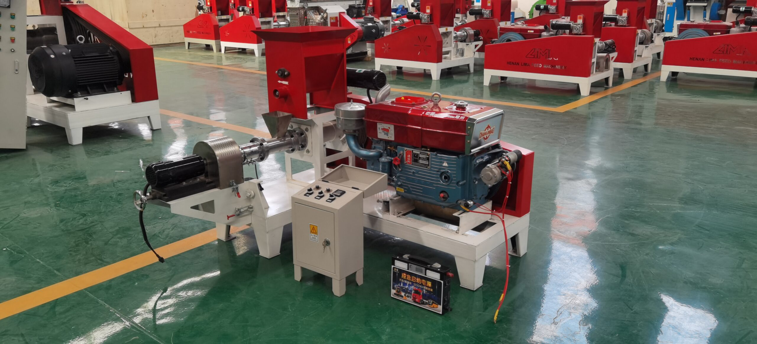 diesel power fish feed making machine