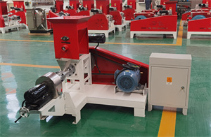 motor type Animal floating fish chicken poultry feed pellet mill making machine, grinder mixer machine