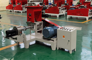 motor type Floating Fish Feed Pellet Making Machine Fish Feed Production Line